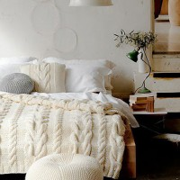 Winter Bedroom White Blanket