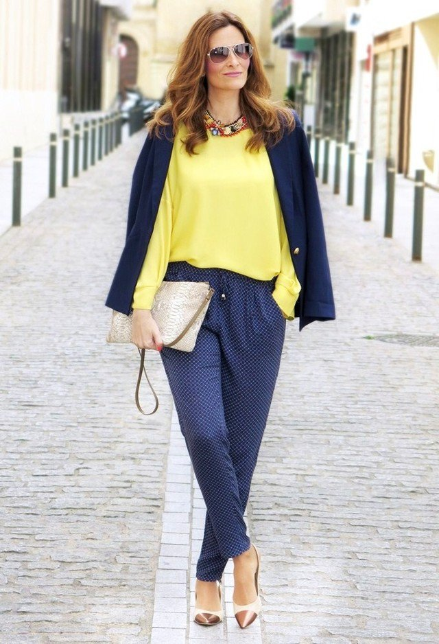 Yellow Blouse and Polka Dotted Pants