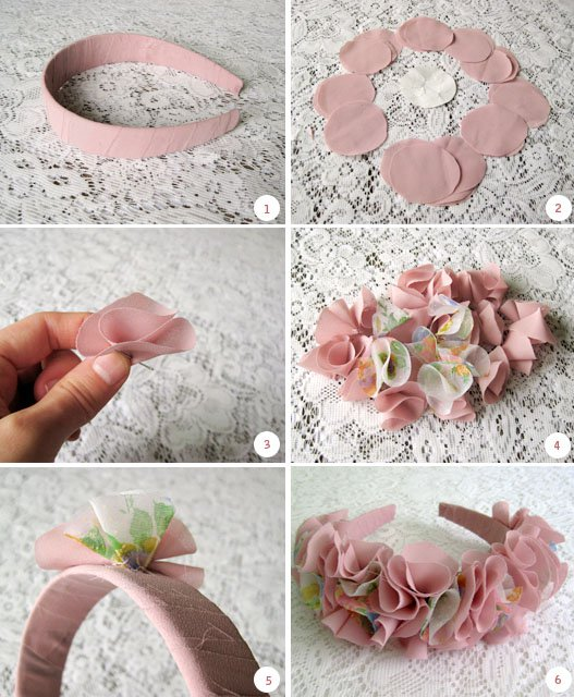 Adorable DIY Fabric Flower Headband