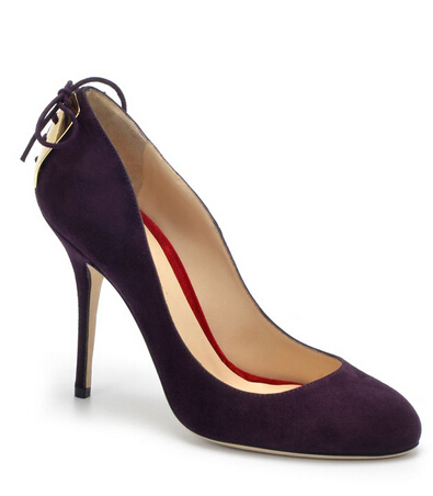 Alberto Moretti Purple Velvet Pumps