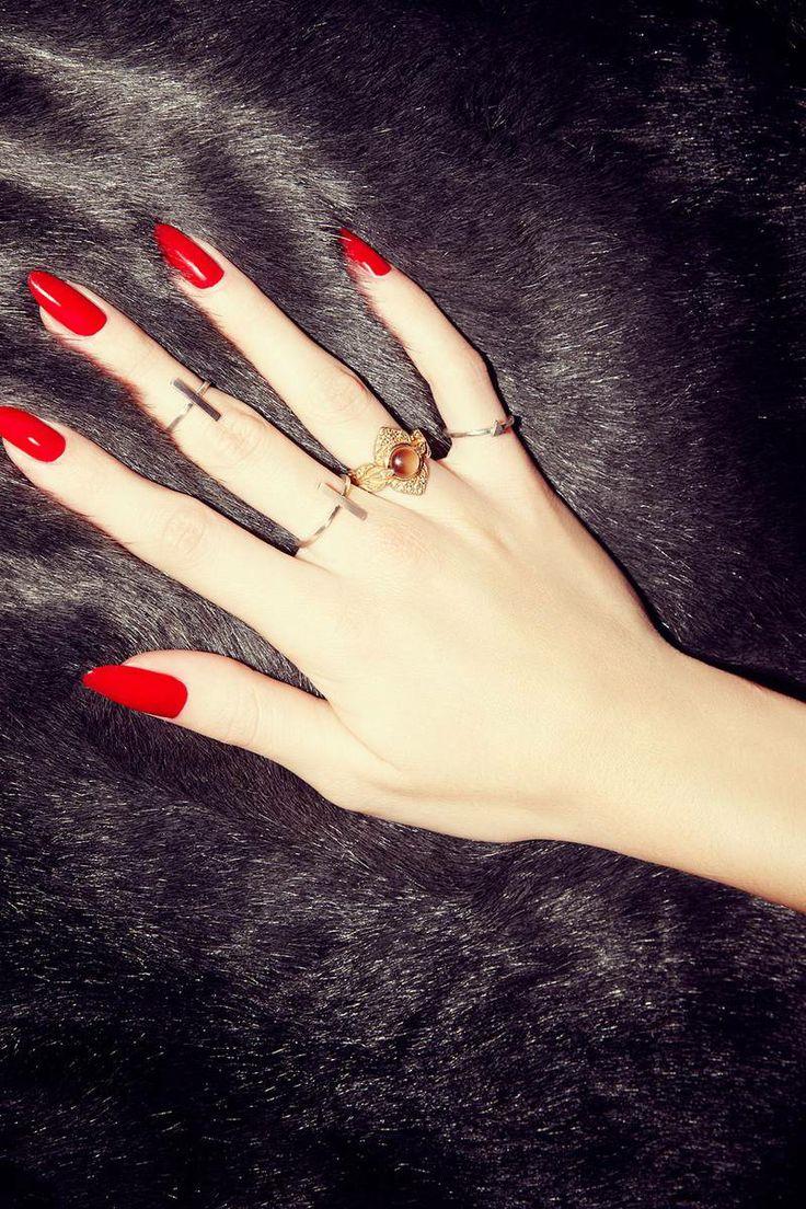 Amazing Red Stiletto Nails