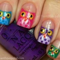 Angry Bird Nail Design for Clear Nails