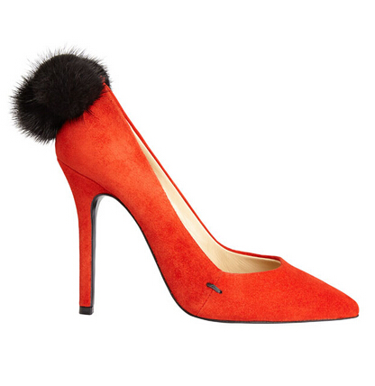 Aperlaï Orange Pumps