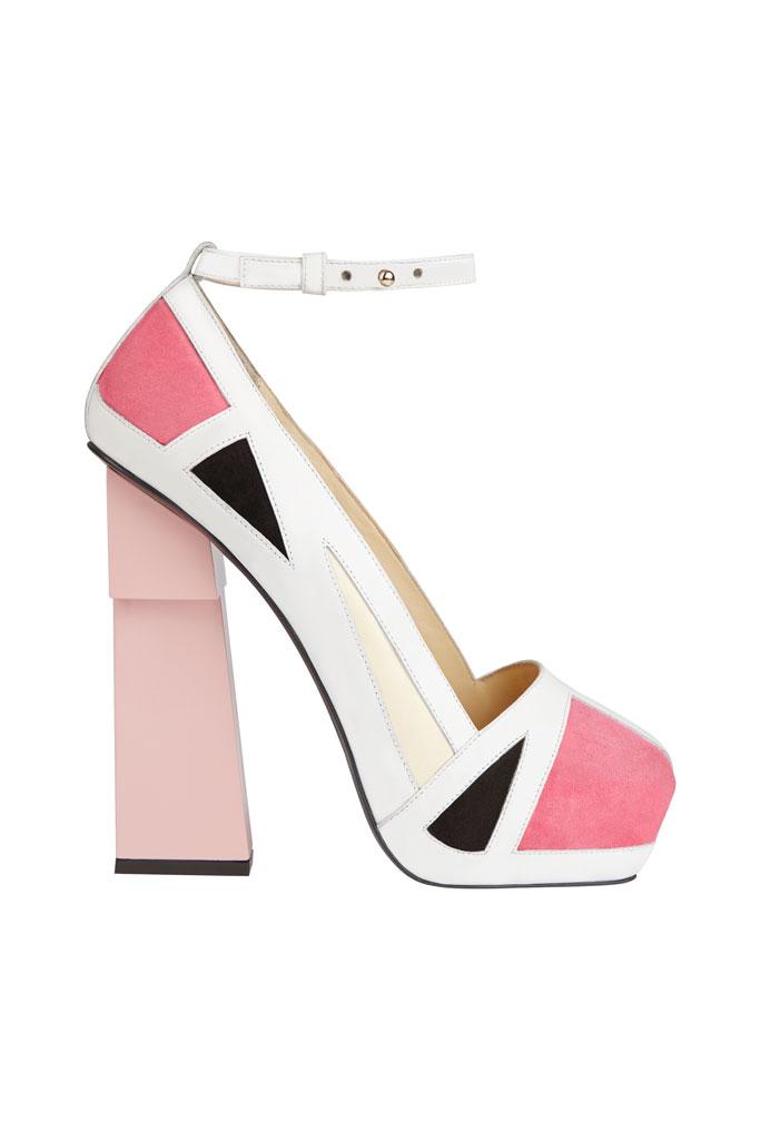 Aperlaï Pink Platform High Heels