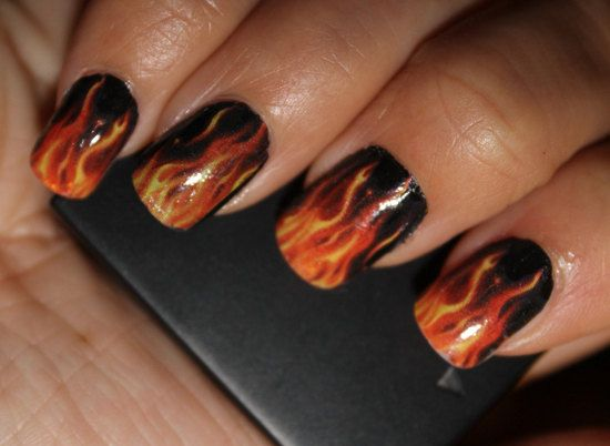 Awesome Harley Davidson Nail Design