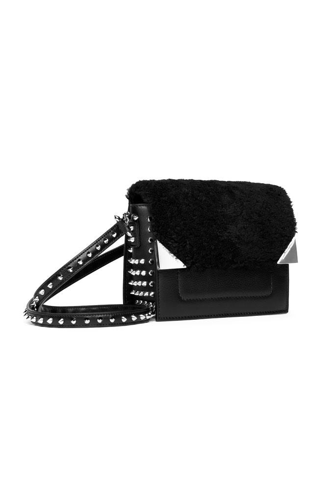 Barbara Bui Fur and Studded Bag