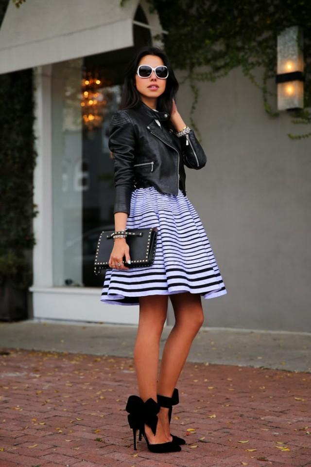 Beautiful Black and White Outfit Idea