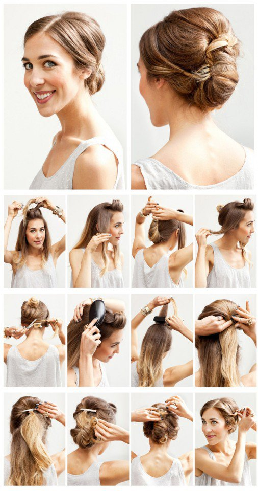 Beautiful Updo Hairstyle Tutorial