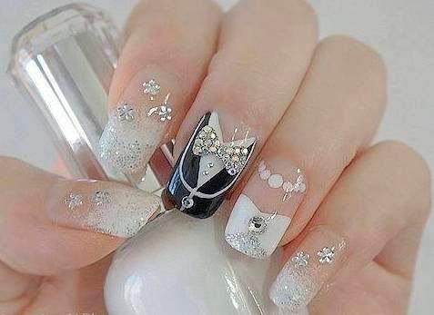 Beautiful Wedding Nail Design