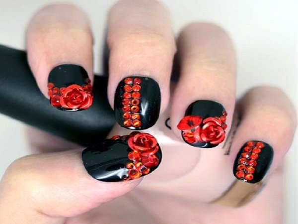 14 Beautiful Rose Nail Art Designs Pretty Designs