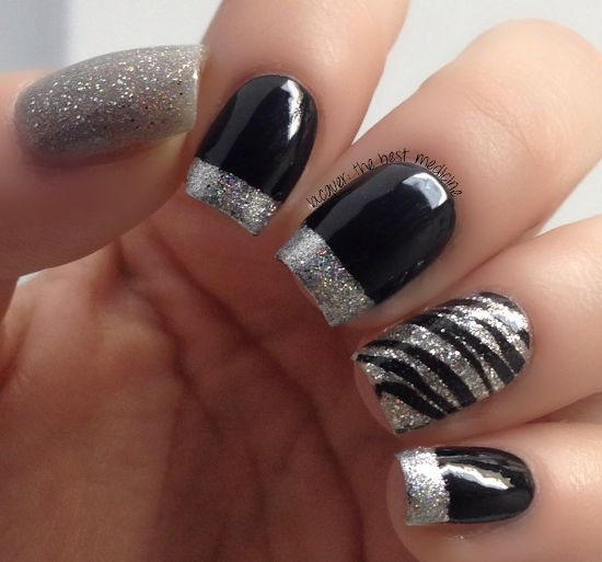 Nail Designs Silver And Black Nail Arts