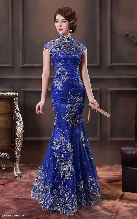 Fabulous chinese traditional wedding dresses pretty designs for Chinese style wedding dress