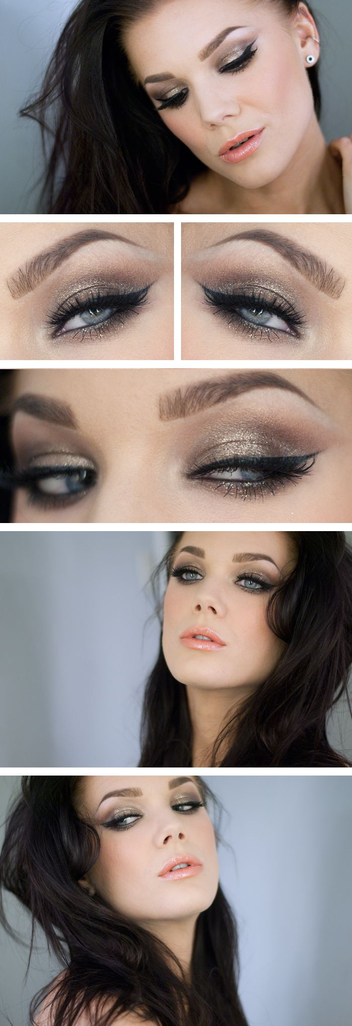 Bronze Eye Shadow Makeup Idea