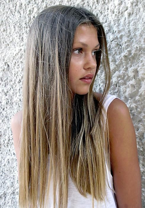 Center-parted Straight Hairstyle