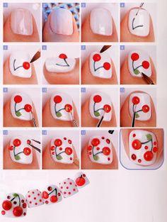 Cherry Nails Tutorial