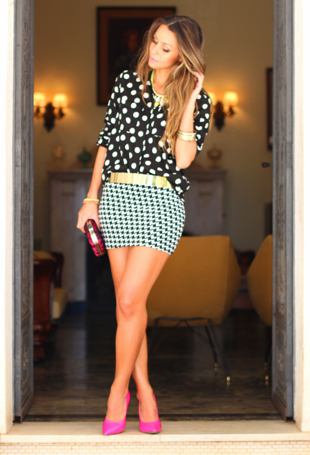 Chic Polka Dot Outfit Idea