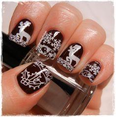 Chocolate Nail Design for Christmas