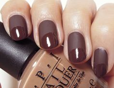 Chocolate Nail Design for French Manicure