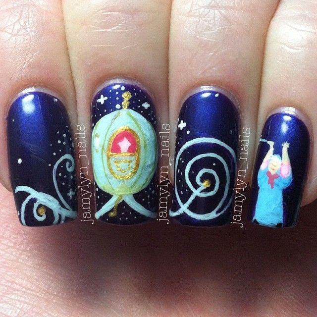 Cinderella Themed Nails