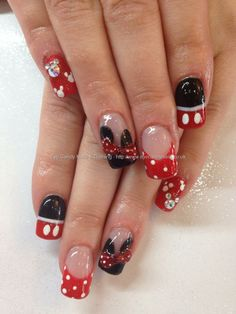 Clear Mickey Mouse Nails