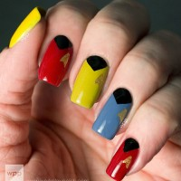 Colorful Star Trek Nail Design