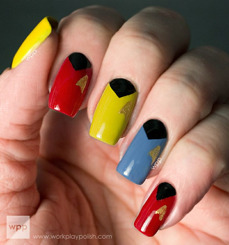 Colorful Star Trek Nail Design
