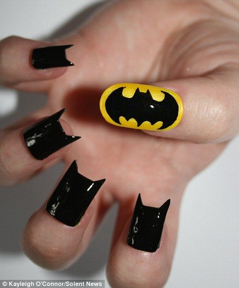 Cool Batman Nail Art Design - 15 Great Batman Nail Art Designs For Kids - Pretty Designs