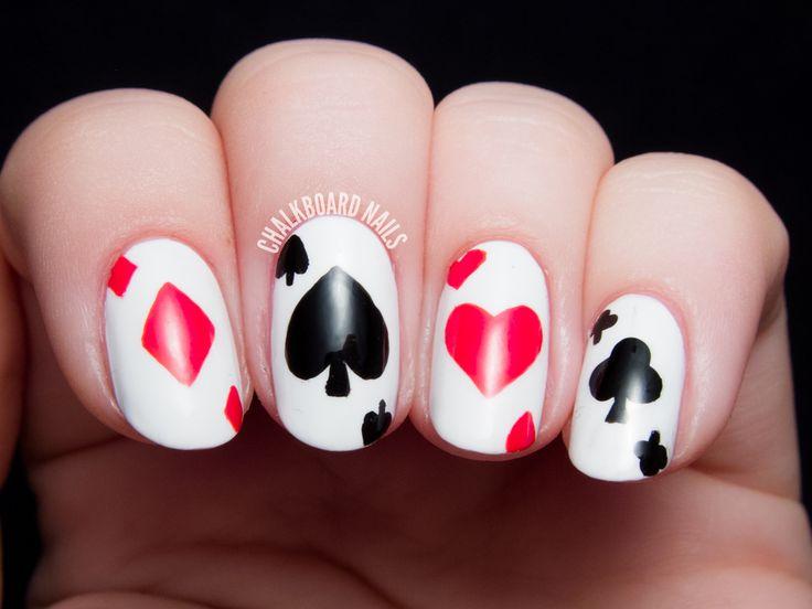 12 Interesting Card Nail Designs - Pretty Designs