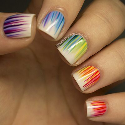 19 Amazing Rainbow Nail Art Designs - Pretty Designs