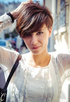 Cool Short Hairstyle With Bangs