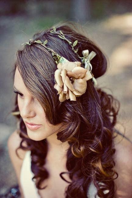 Curls with Flower Headband