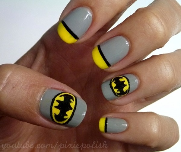 15 great batman nail art designs for kids pretty designs cute batman nail art design prinsesfo Choice Image