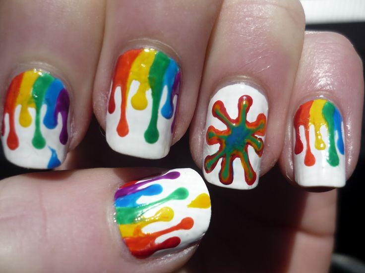 Cute Rainbow Nail Art Design