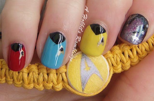 Cute Star Trek Nail Design