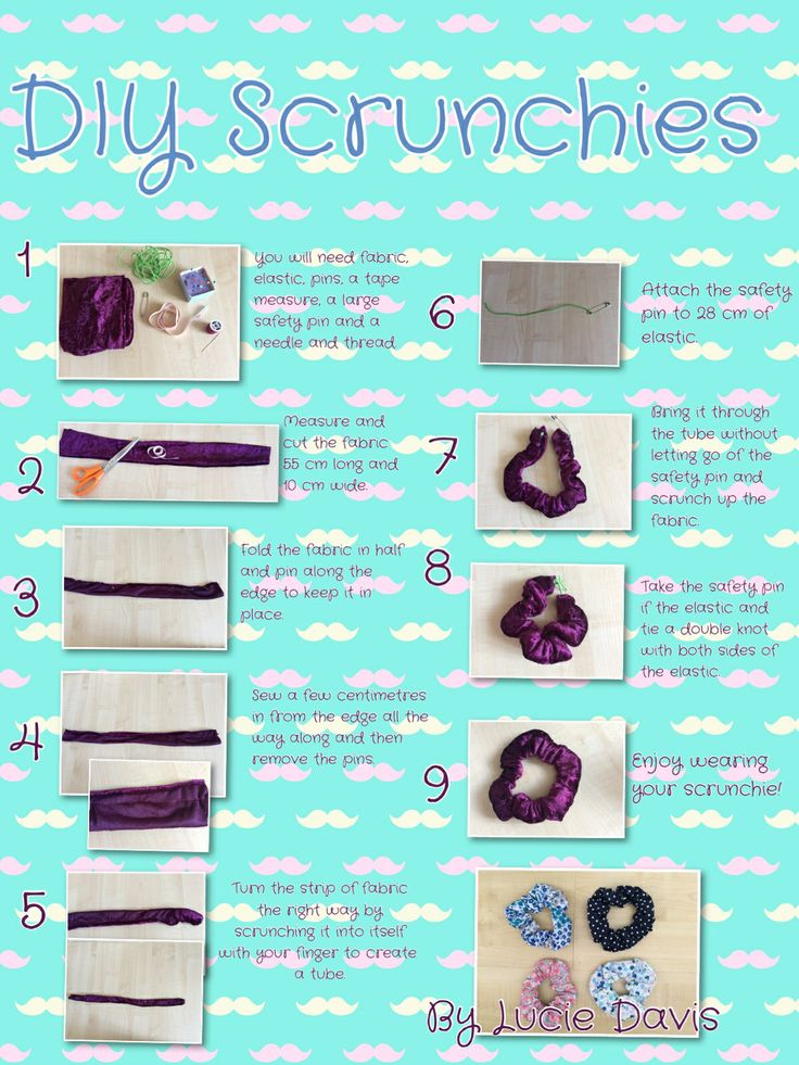 DIY Projects for You to Make a Pretty Scrunchie