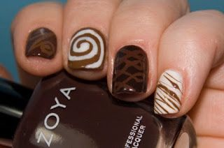 Delicious Chocolate Nail Design