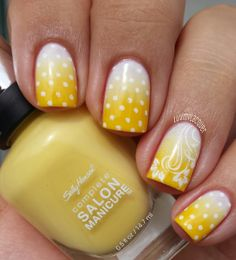16 Fabulous Yellow Nail Art Designs Pretty Designs