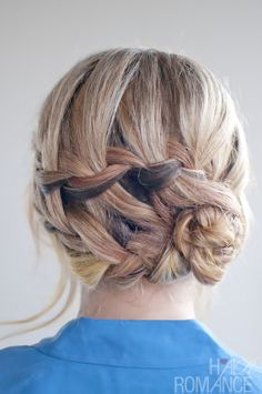 Double Braid Updo Hairstyle