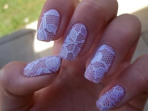 Dreamy Lace Nail Design