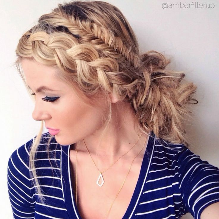 Dutch Braid Headband With Fishtail Braid