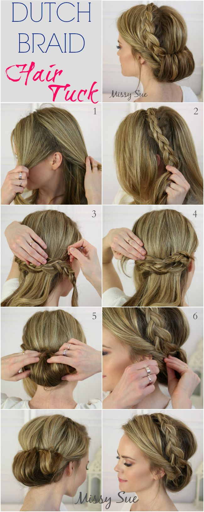 Astonishing 17 Stunning Dutch Braid Hairstyles With Tutorials Pretty Designs Hairstyles For Men Maxibearus