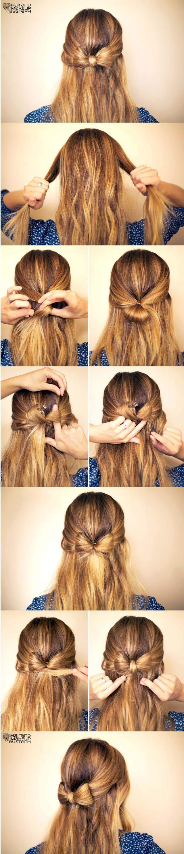 Easy Bow Hairstyle Tutorial