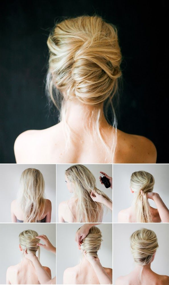 Easy Bun Hairstyle Tutorial