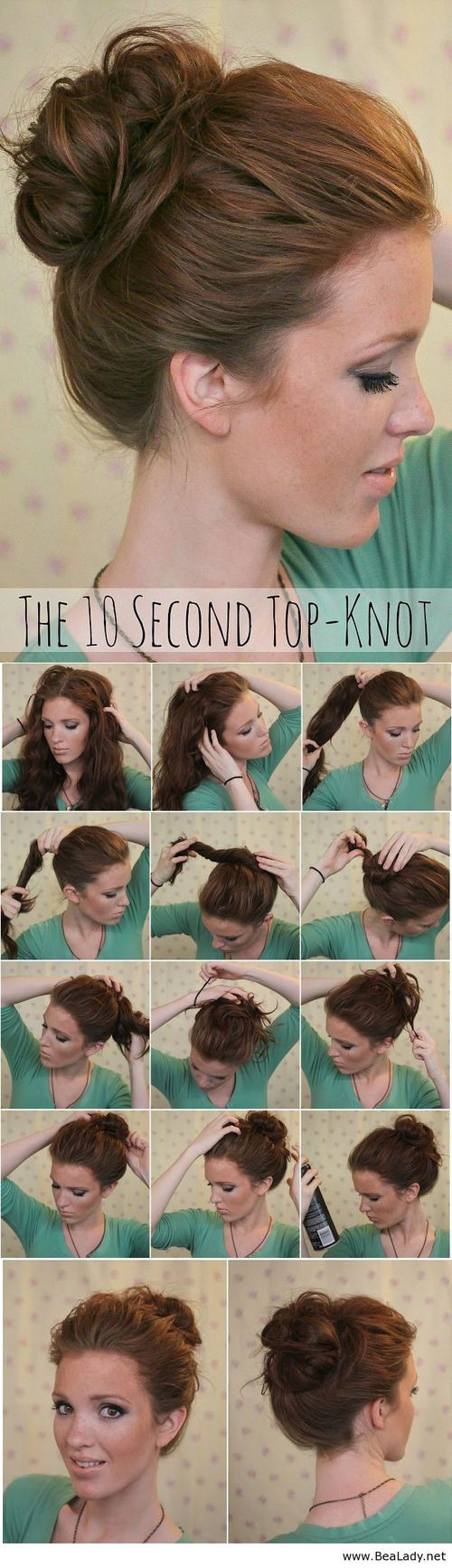 10 Super Easy Hairstyles With Tutorials - Pretty Designs