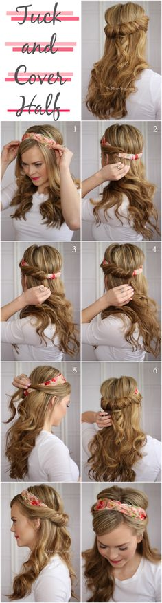 Easy Tuck and Cover Hairstyle Tutorial