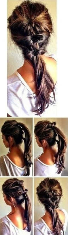 Easy Twisted Ponytail Hairstyle Tutorial