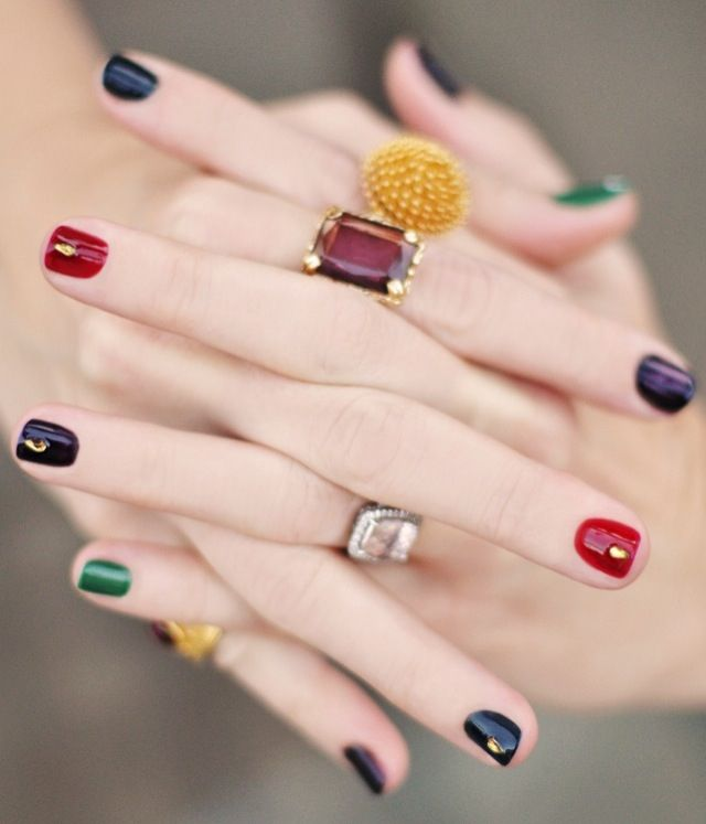 Embellished Colored Nails