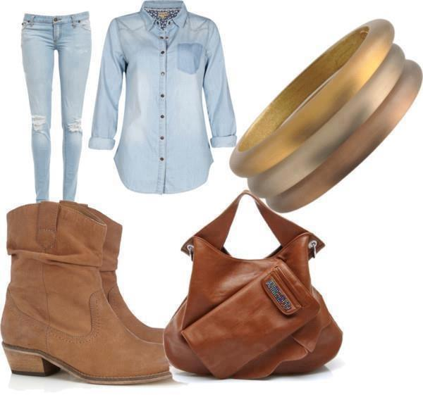 Fall 2014 Wearing Idea with Denim Outfit