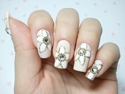 Fantastic Wedding Nail Design