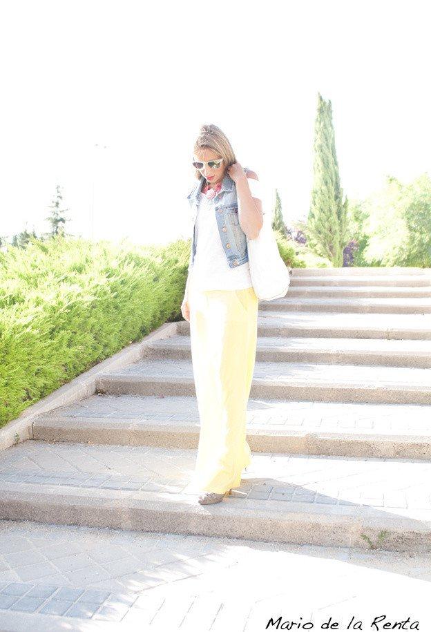 Feminine Outfit Idea with Denim Vest